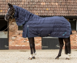 Mark Todd Check Mediumweight Stable Rug Navy and White