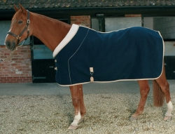 Mark Todd Deluxe Fleece Rug Navy/Beige
