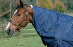 Mark Todd Heavyweight Combo Turnout Rug Navy/Jade/Beige Plaid